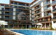 One-bedroom apartment for sale on the first line in Pomorie with sea view, Bulgaria