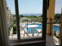 Bargain resale - furnished one bedroom apartment with sea view in Byala, Bulgaria