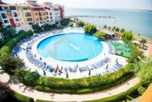 Two-bedroom apartment for sale on the first line of the sea in the town of Aheloy, Bulgaria